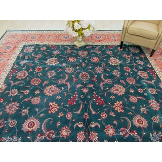 EORC Hand Knotted Wool Green Pak-Persian Rug (12' x 18'9)