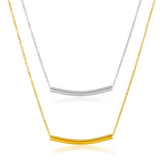ELYA High Polish Curved Cylinder Bar Stainless Steel 18-Inch Cable Chain Necklace https://ak1.ostkcdn.com/images/products/12433255/P19249457.jpg?impolicy=medium