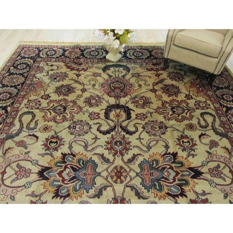 Hand-knotted Wool Beige Traditional Oriental Mahal Rug (10' x 13'11) - 10' x 14'