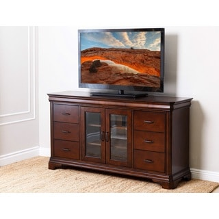 ABBYSON LIVING Nottingham 65-inch Cherry Entertainment Center