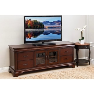 Abbyson Nottingham 72-inch Cherry Wood TV Stand