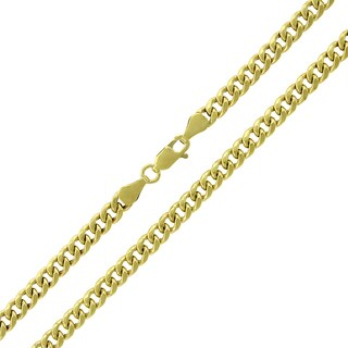 10K Yellow Gold 4.5mm Hollow Miami Cuban Curb Link Chain Necklace (Option: 34 Inch)|https://ak1.ostkcdn.com/images/products/12433402/P19249585.jpg?_ostk_perf_=percv&impolicy=medium