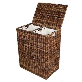 BirdRock Home Abaca Divided Laundry Hamper