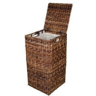 BirdRock Home Espresso Abaca Single Hamper