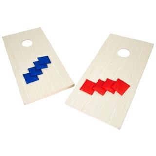 Trademark Innovations Premium All Wood 4-foot Cornhole Toss Set With 8 Bean Bags