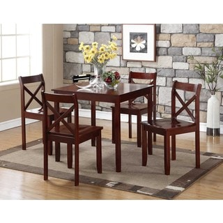 Jamie 3 Piece Wood Dining Set Option Cherry Finish