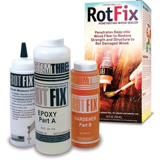 System Three 1500K40 1.5 Pint Brown Roto Fix Epoxy Wood Sealer