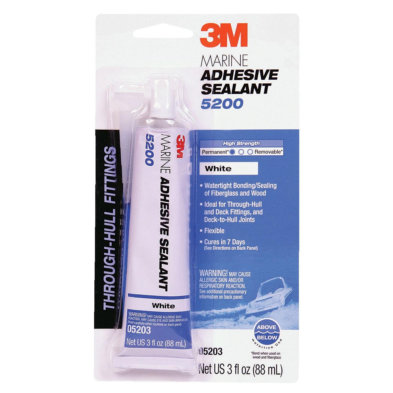 3M 05206 1 Oz White Marine Adhesive Sealant (Specialty Ca...