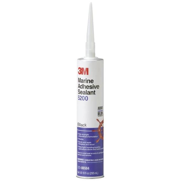 3M 06504 10 1 Oz Black Marine Adhesive Sealant 5200