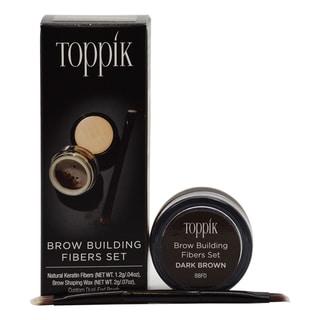 Toppik Brown Brow Building Fibers Set