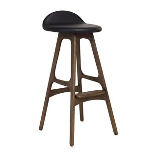 Mid Century Modern Danish Walnut Counter Stool (China)