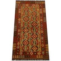 Herat Oriental Afghan Hand-woven Vegetable Dye Wool Kilim (3'5 x 6'4)