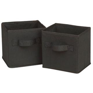 Honey Can Do SFT-02084 Mini Black Folding Storage Cube 2-ct