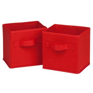 Honey Can Do SFT-02089 Mini Red Fabric Storage Bin Pack 2-ct