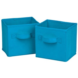 Honey Can Do SFT-02126 Mini Blue Folding Storage Cube 2-ct