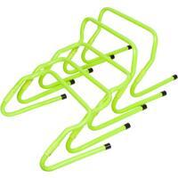 Set of 5 Light Green Plastic Adjustable Speed Training Hurdles By Trademark Innovations