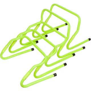 Set of 5 Light Green Plastic Adjustable Speed Training Hurdles By Trademark Innovations