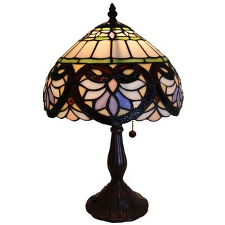 Warehouse of Tiffany Orva Lily 16-inch-tall 1-light Tiffany-style Table Lamp