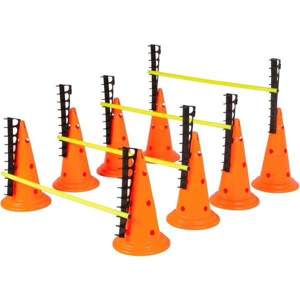 Trademark Innovations Adjustable Hurdle Cone Set with 8 Cones and 4 Poles