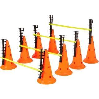 Trademark Innovations Adjustable Hurdle Cone Set with 8 Cones and 4 Poles