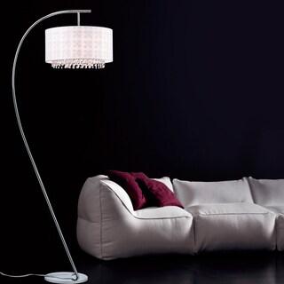 Dorita White Fabric 49-inch 1-light Arched Floor Lamp