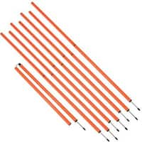 Sports Coaching 6' Agility Training Poles By Trademark Innovations (Orange, Set of 8)