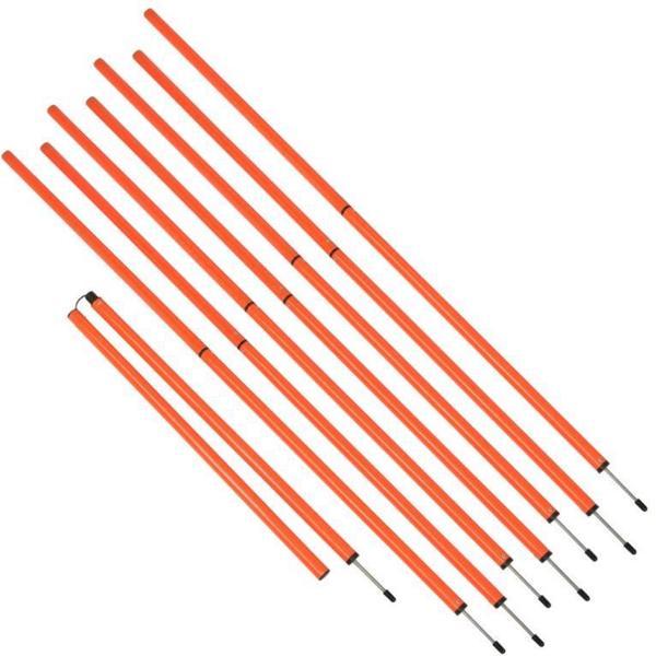 Sports Coaching 6' Agility Training Poles By Trademark Innovations (Orange, Set of 8)