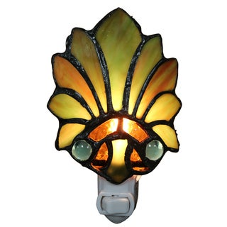 Farrah Lily Glass 6-inch 1-light Plug-in Wall Sconce with Bulb