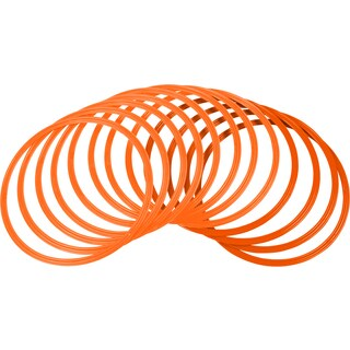 Trademark Innovations Orange Plastic 16-inch-diameter Speed & Agility Training Rings (Pack of 12)