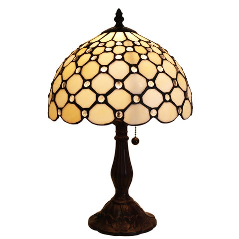 Ophelia Tiffany-style 16-inch 1-light Geometric Table Lamp