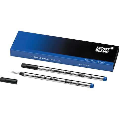 Mont Blanc Refills Medium Pack of 2 Pacific Blue 105159