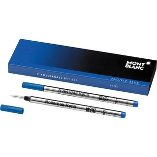 Mont Blanc Rollerball Refills Fine Pacific Blue 105163