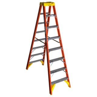 Werner T6208 8' Fiberglass Twin Step Ladder