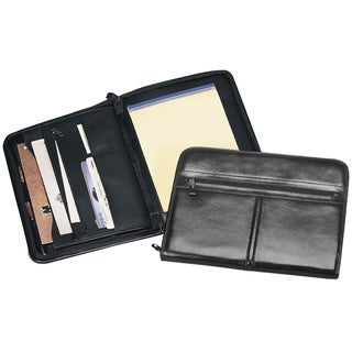 Goodhope Black Leather Zip-around Pad Organizer