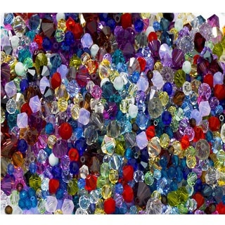 Multicolored 50-carat Total Weight Grade AAA 3-millimeter to 15-millimeter Assortment of Loose Swarovski Beads
