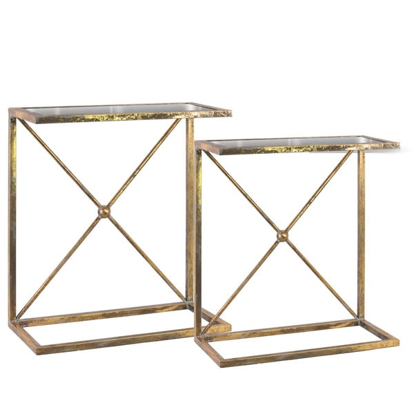 Shop Metal Rectangular Accent C Table With Mirror Top X