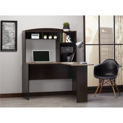 Avenue Greene Brightbrook L Desk with Hutch