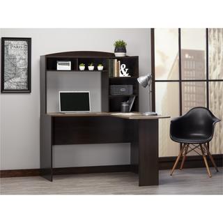 Ameriwood Home Sutton Espresso L-desk with Hutch