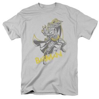 Dark Knight Rises/Left Hook Short Sleeve Adult T-Shirt 18/1 in Silver