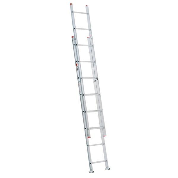 Shop Werner D716 2 16 Aluminum Extension Ladder Free