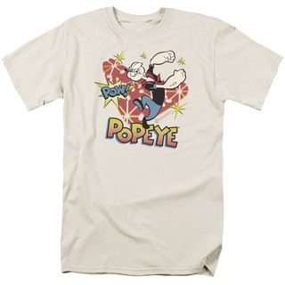 Popeye/Pow! Short Sleeve Adult T-Shirt 18/1 in Sand