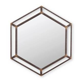 Metal Hexagon Mirror