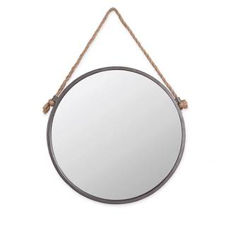 Rope & Circle Mirror Medium - Antique Silver - A/N