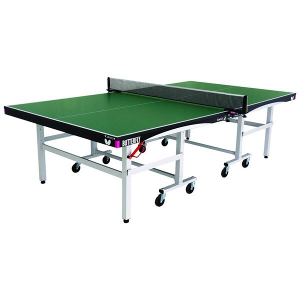 Butterfly Octet White/Green Wood Rollaway Table Tennis Table