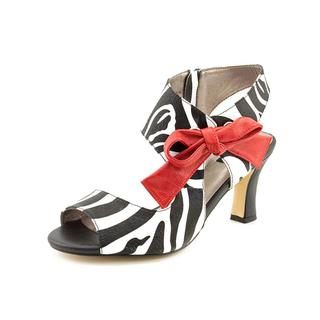 Array Women's 'Scarlet' Multicolored Leather Animal-print Sandals