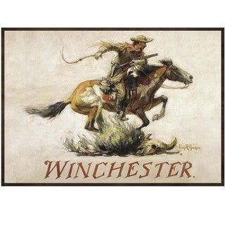 Rockin W Brand Winchester 'Horse & Rider' Polyester Area Rug
