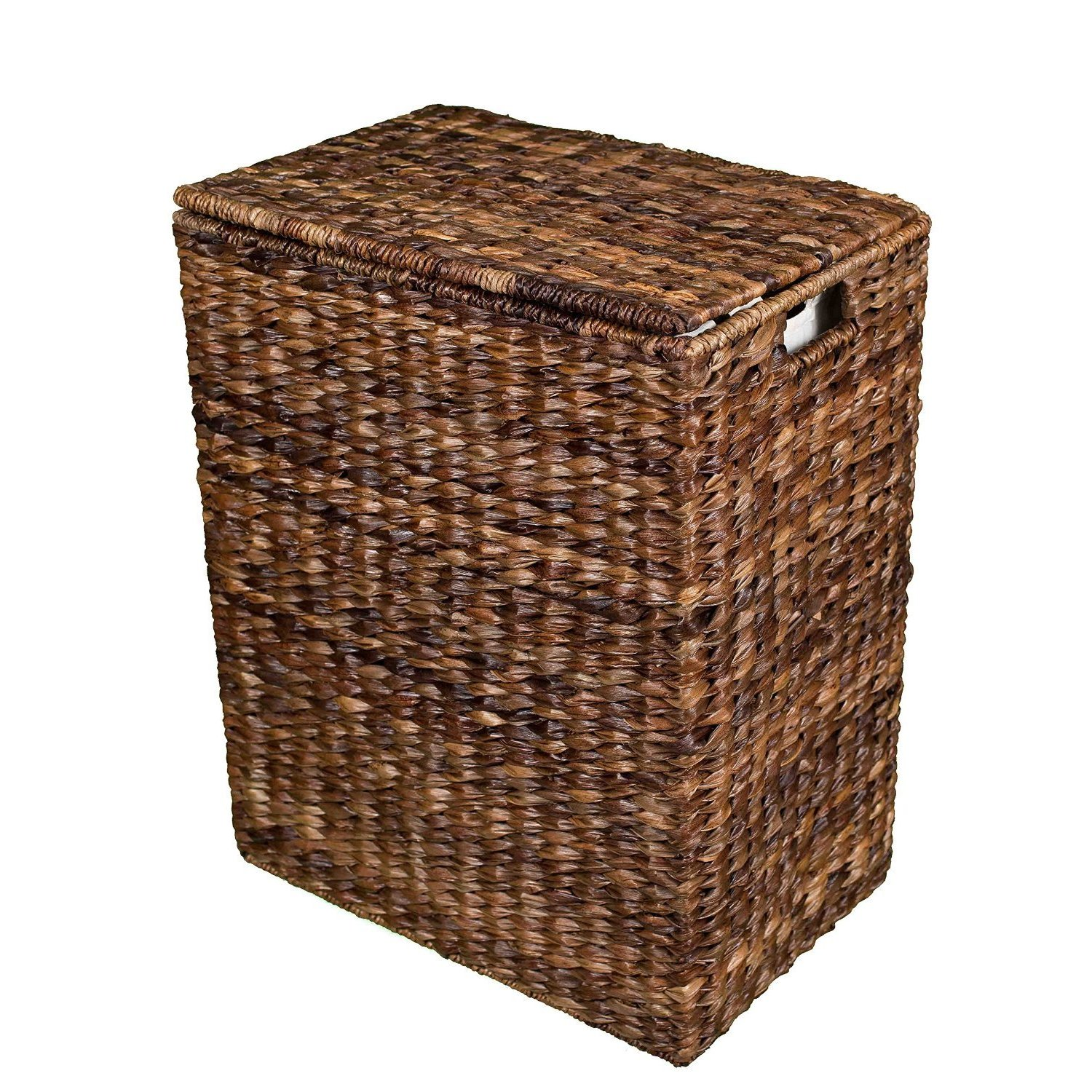 Birdrock Home Espresso Brown Abaca Laundry Hamper Overstock 12434685