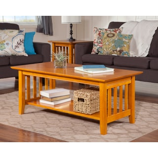 mission caramel latte wooden coffee table atlantic mission work table