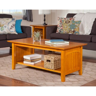 Nantucket Caramel Latte Wood Coffee Table