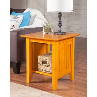 Nantucket Caramel Latte Wood End Table